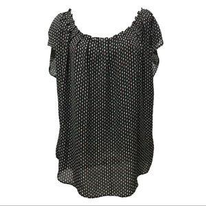 LC Lauren Conrad Top Plus Size XXL Black New Sheer